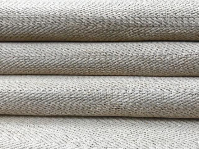 hemp herringbone woven textile