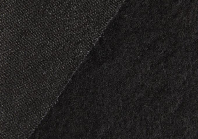 Hemp Organic Cotton Fleece Black