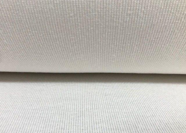 Hemp Cotton Ribbing White